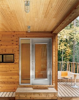 The house is entered through a Visteon steel door by Neoporte, who also provided the solid core birch interior doors.