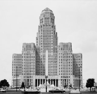 East elevation of Buffalo City Hall, circa 1981. Image courtesy the United States Library of Congress' Prints and Photographs Division.