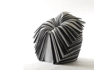 Nendo Takes Over MADProjects Gallery - Photo 6 of 6 - Nendo designed the Cabbage Chair for the XXIst Century Man exhibition curated by Issey Miyake in 2008. The piece is made of pleated paper created as a by-product during fabric production. The material would ordinarily be discarded.