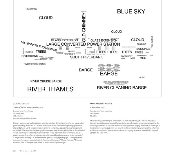 Alberto Duman's View of the Tate Modern, London in The Map as Art: Contemporary Artists Explore Cartography by Katerine Harmon, Published by the Princeton Architectural Press