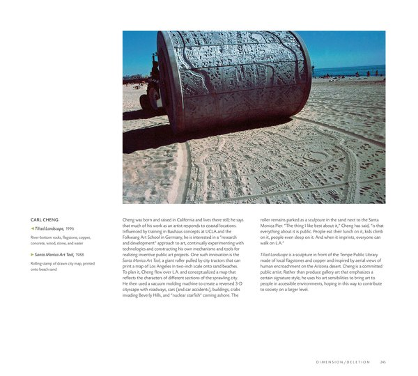 The Santa Monica Art Tool by Carl Cheng in The Map as Art: Contemporary Artists Explore Cartography by Katerine Harmon, Published by the Princeton Architectural Press