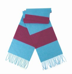 The Burnley, in claret and blue stripes.