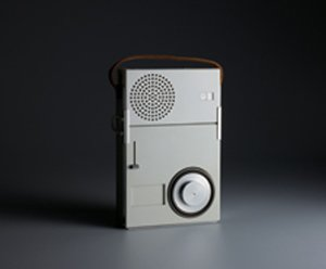 TP1 portable radio-phono combination by Dieter Rams, 1959. Photograph by Koichi Okuwaki.