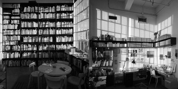 Architect Steven Holl's library contains about 3,500 books and was manufactured by Knossos on a sketch and series of proportions by Holl himself.
