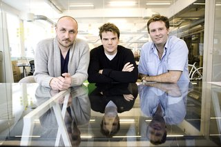 KiBiSi founders (left to right) Lars Holme Larsen, Bjarke Ingels, and Jens Martin Skibsted.