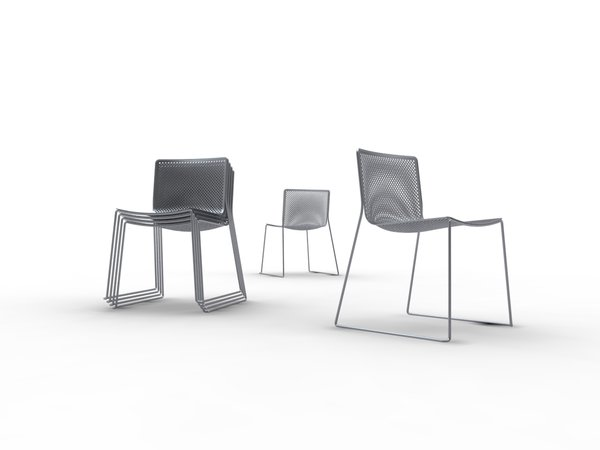 Moire Chair by KiBiSi. Designed in 2008 for the 8 House in Copenhagen. Concept. brbrPhoto courtesy of KiBiSi