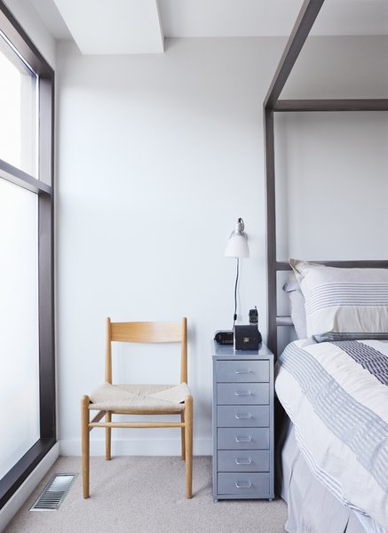 The master bedroom occupies a private space on the top floor.