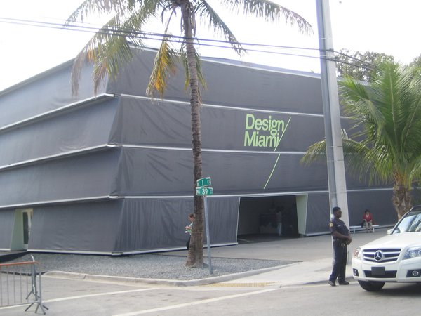 The temporary tent that housed Design Miami this year was designed by the New York firm Aranda\Lasch.