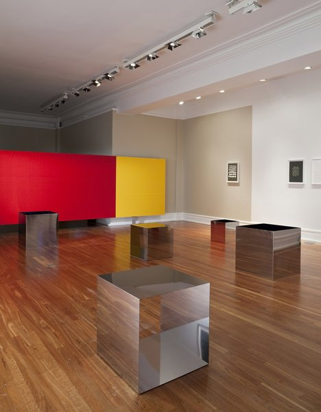 A long view of the gallery floor looks like an endless series of boxes. Photo by James Ewing.