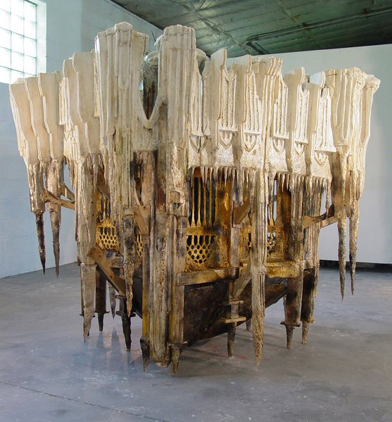 Measuring over five feet tall, Spun of the Limits of My Lonely Waltz is a sculpture created by Diana Al-Hadid in 2006.Photo courtesy of Diana Al-Hadid