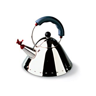 Tea Kettle, for Alessi, Michael Graves (1985).