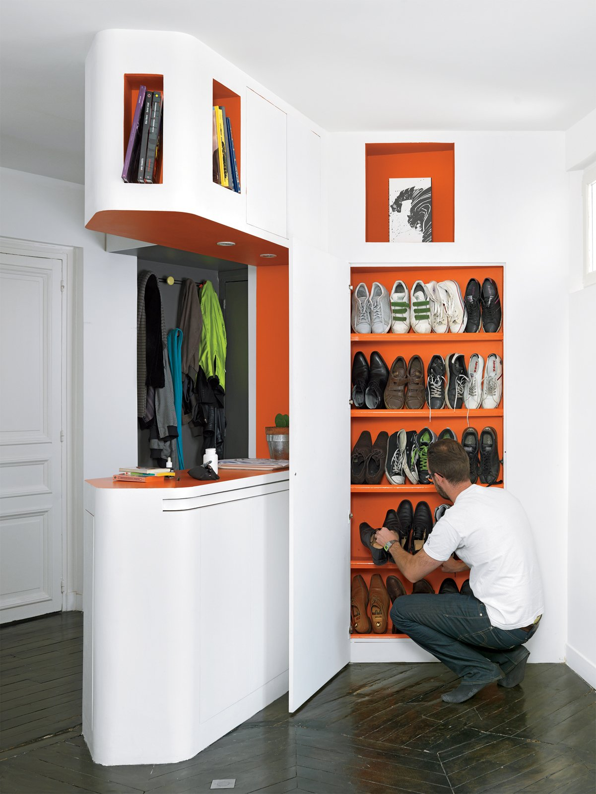 The shoe closet. Tagged: Storage Room and Closet Storage Type.  Storage by Dwell from Shelf Life