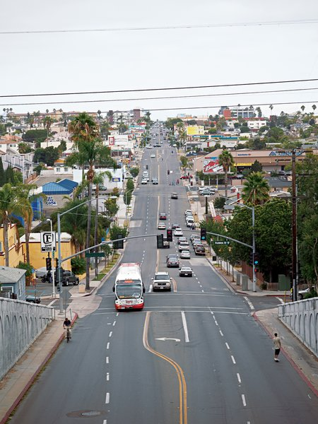 University Avenue is one of San Diego's main thoroughfares and one that Anderson would like to see developed like Abbot Kinney Boulevard in Venice.