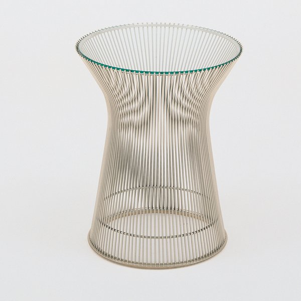 Platner Side Table by Warren Platner for Knoll, $930 for metallic bronze base with bronze glass top