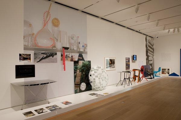 This photo, taken at the Art Institute of Chicago's Konstantin Grcic: Decisive Design show, which runs through January 24th, shows a variety of Grcic's work.