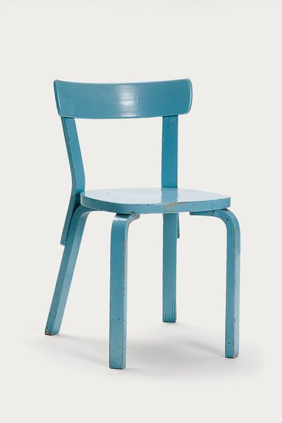 A Children's chair N65, also from Artek's 2nd Cycle series and also embedded with coded RFID tags.