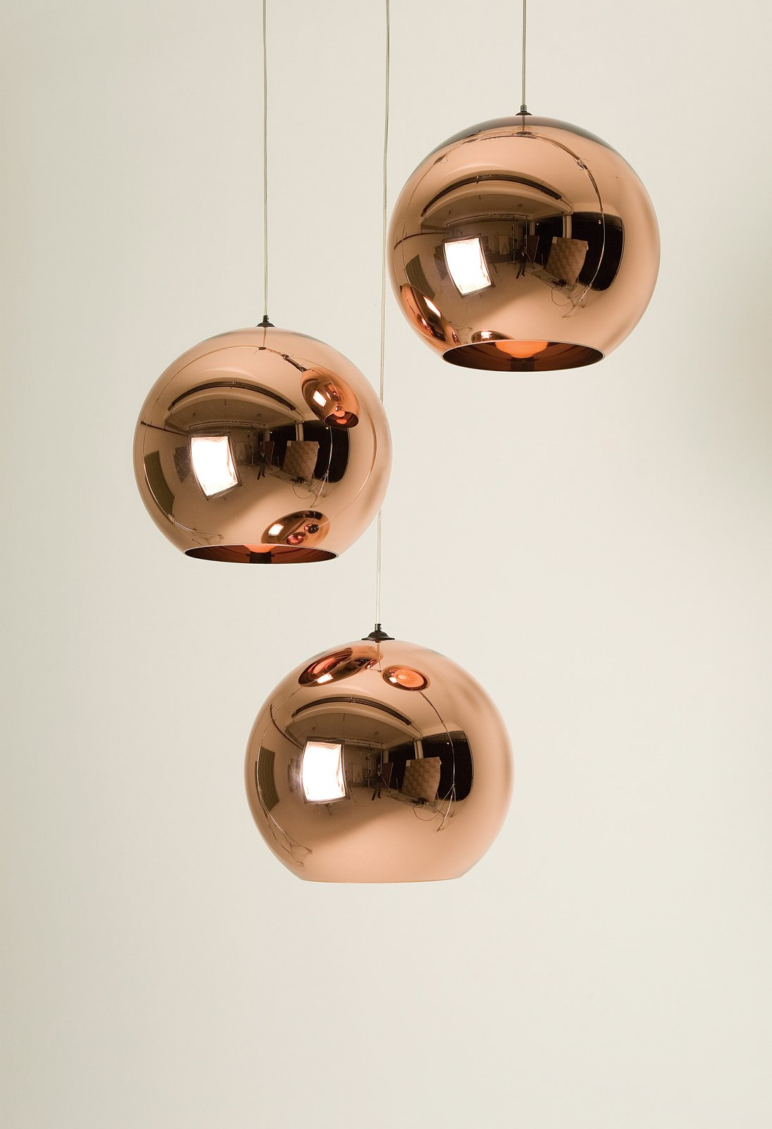 Tom Dixon's Copper Shade pendant lamps reflect his background in metalwork.  Photo 3 of 8 in Tom Dixon