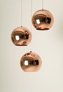 Tom Dixon - Photo 3 of 8 - Tom Dixon's Copper Shade pendant lamps reflect his background in metalwork.