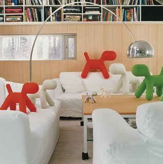 Furniture Designer Focus: Eero Aarnio - Photo 2 of 13 - A proliferation of Puppies, Aarnio's 2005 design for Italian manufacturer Magis, gather in the living room of his Veikkola, Finland, home. Aarnio's playful spirit, evident in the iconic Ball Chair, is alive and well in his new work.
