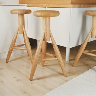 The Rocket stool, Aarnio's 2007 design for venerable Finnish producer Artek.