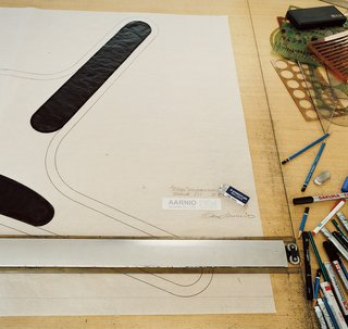 Furniture Designer Focus: Eero Aarnio - Photo 7 of 13 - Aarnio works out his designs digitally at a drafting table.