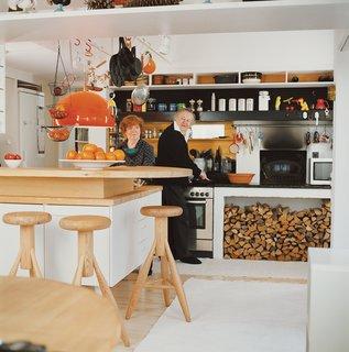 Furniture Designer Focus: Eero Aarnio - Photo 12 of 13 - Eero and Pirkko Aarnio, in their home's kitchen, have been married for over 50 years.