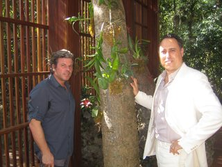 Swiss landscape designer Enzo Enea (left) and vaunted Miami architect Chad Oppenheim (right) at the entrance of Simpson Park Hammock, a project on which they collaborated pro bono.