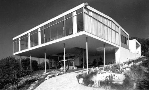 "The Glass House, shortly after it was built in 1951 as the home of Bo Bardi and her husband, Pietro Maria Bardi. ""The Glass House has to be ranked as a major theme of modern architecture,"" wrote Gio Ponti of the building in 1953. Image courtesy Acervo Instituto."