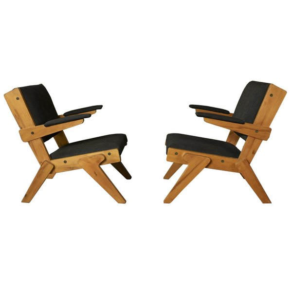 "A pair of chairs designed by Bo Bardi out of peroba rosa wood in 1951, currently part of Noho Modern's collection. ""She is the single most important architect and designer behind Oscar Niemeyer,"" says Thomas Hayes, co-owner of Noho Modern, a gallery specializing in modern and contemporary Brazilian design. ""Her work hasn't even begun to be appreciated at the level it deserves."""