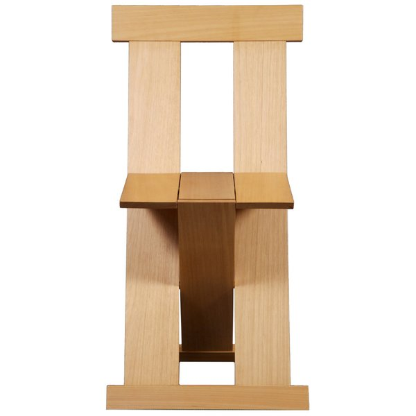 The folding Frei Egídio chair, which Bo Bardi designed with the architects Marcelo Ferraz and Marcelo Suzuki, was modeled after the lines of a 15th-century Franciscan chair. Shown is a contemporary version, manufactured in 2005.