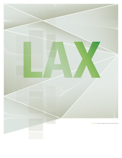 Rem Koolhaas's Los Angeles County Museum of Art was the inspiration for this poster.