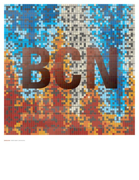 Dig the pixelated madness of Jean Nouvel's Torre Agbar tower in Barcelona.