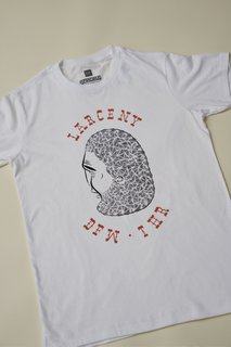 This shirt shows off one of Barry McGee's winsome, if cock-eyed, drawings.