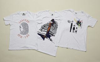 SFMOMA x Gap: Artists' T-Shirts - Photo 7 of 9 - There are eight shirts in all, and at $25 are certainly a bargain. Here are three by McGee, Snows and Johanson.