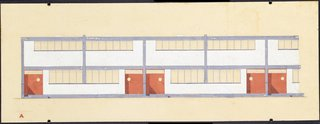 Final Weekend: Bauhaus at MoMA - Photo 2 of 16 - Torten housing estate elevation drawing by Walter Gropius. Image courtesy the Museum of Modern Art.