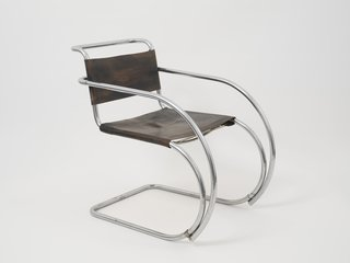 Armchair by Ludwig Mies van der Rohe. Image courtesy the Museum of Modern Art.