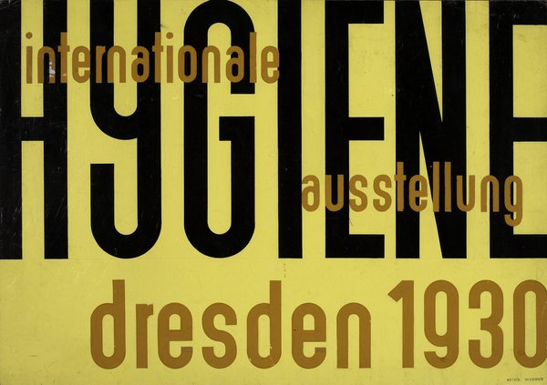 Design for a poster for Internationale Hygiene by Erich Mrozek. Image courtesy the Museum of Modern Art.