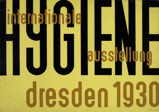 Events this Weekend: 1.21-24 - Photo 5 of 5 - Design for a poster for Internationale Hygiene by Erich Mrozek. It's on view at the Bauhaus 1919-1933: Workshops for Modernity exhibition closing this weekend. Image courtesy the Museum of Modern Art.