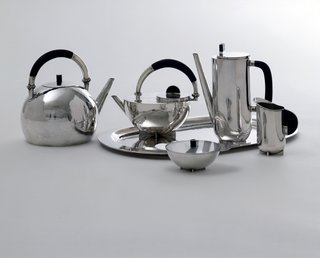 Coffee and tea set by Marianne Brandt. Image courtesy the Museum of Modern Art.