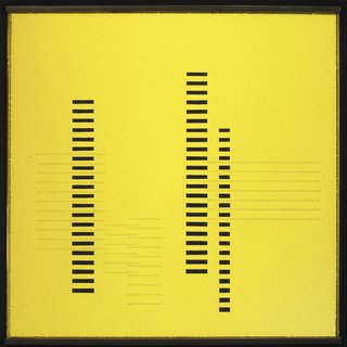 Skyscrapers on Transparent Yellow by Josef Albers. Image courtesy the Museum of Modern Art.