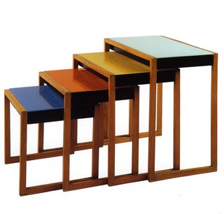 Set of stacking tables by Josef Albers. Image courtesy the Museum of Modern Art.