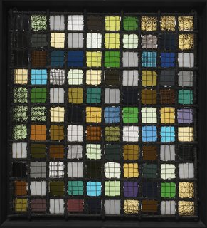 Final Weekend: Bauhaus at MoMA - Photo 15 of 16 - Gitterbild by Josef Albers. Image courtesy the Museum of Modern Art.