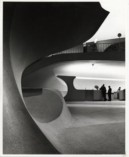 Photo of the TWA Terminal, New York International (now John F. Kennedy International) Airport (1962) by Eero Saarinen, on display at the Museum of the City of New York through January 31, 2010. Image by Balthazar Korab and courtesy of the Finnish Cultural Institute in New York.