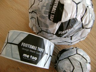 DIY Soccer Ball Tape by Marti Guixe, on display in the Design Revolution Road Show exhibition.