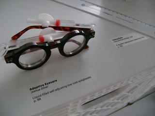 Adaptive Eyecare Glasses by Joshua Silver, on display in the Design Revolution Road Show exhibition.