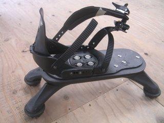 SpiderBoot anti-landmine footwear by Allen Vanguard and Gad Shaanan, on display in the Design Revolution Road Show exhibition.