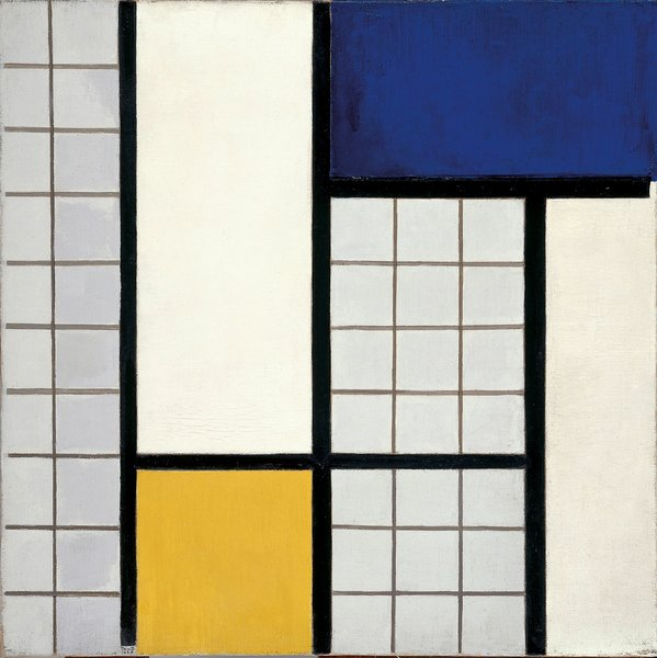 Composition in Half-Tones (1928) by Theo van Doesburg. On display at the Tate Modern in London through May 16, 2010, as part of the Van Doesburg and the International Avant-Garde: Constructing a New World exhibit. On loan from the Museum of Modern Art's Sidney and Harriet Janis Collection.