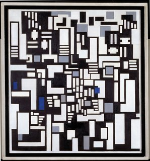 "Events this Weekend: 2.4-2.7 - Photo 6 of 18 - Composition IX, Opus 18: ""Decomposition"" of The Card Players (1917) by Theo van Doesburg. On display at the Tate Modern in London through May 16, 2010, as part of the Van Doesburg and the International Avant-Garde: Constructing a New World exhibit. On loan from the Museum of Modern Art's Sidney and Harriet Janis Collection."