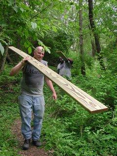 Swamp Thing - Photo 2 of 17 - With the help of friends, Moskow and Linn constructed the Swamp Hut in five weeks, saving them an estimated $15,000 in labor and making the total cost of the project just the $7,500 for materials.