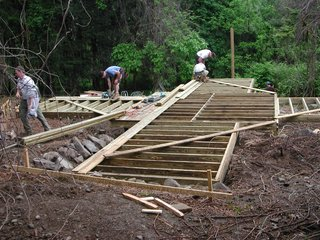 Swamp Thing - Photo 4 of 17 - Shown here, the deck under construction.